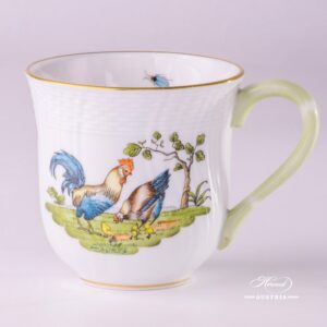 Rooster and Hen 1729-0-00 GVL Milk Mug Herend porcelain