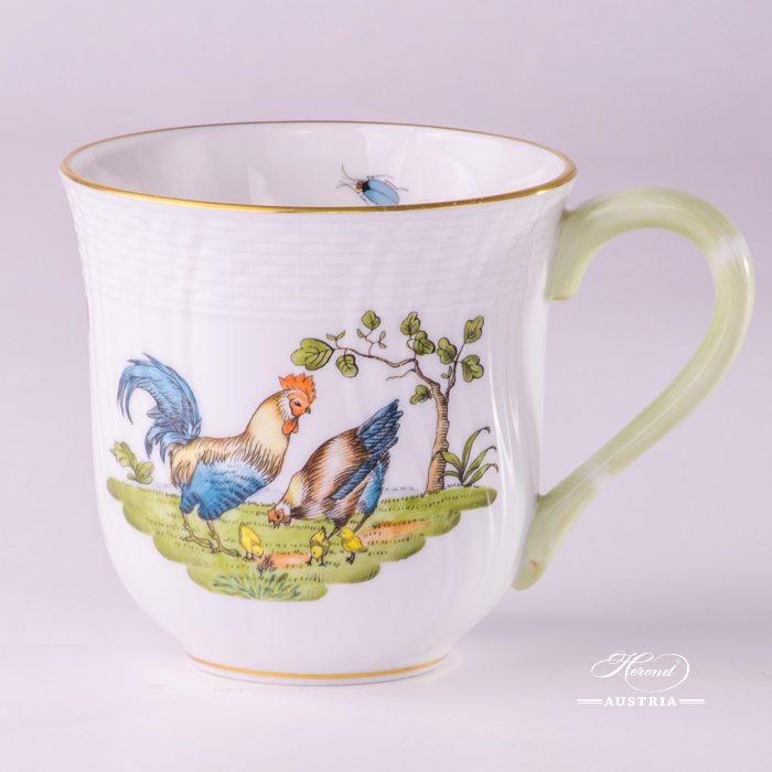 Rooster and Hen 1729-0-00 GVL Milk Mug Herend porcelain