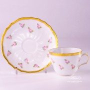 Small Roses 1730-0-00 PTRA Tea Cup and Saucer Herend porcelain