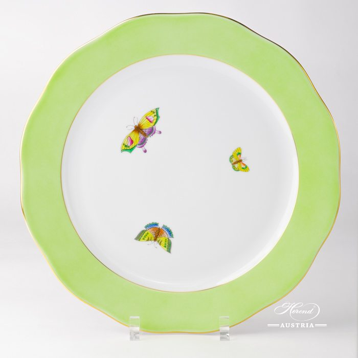 Green-edged Serving Plate with Butterflies - 20156-0-00 E-508 - Herend Porcelain