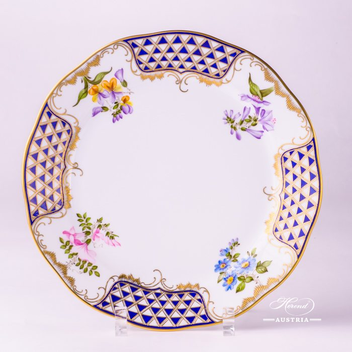 Mosaic and Flowers Dinner Plate - 20524-0-00 MTFC - Herend Porcelain
