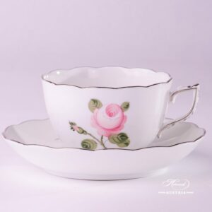 Vienna Rose Grand 20701-0-00 VGR-PT Tea Cup and Saucer Herend porcelain