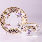 Mosaic and Flowers 20724-0-00 MTFC Tea Cup and Saucer Herend porcelain