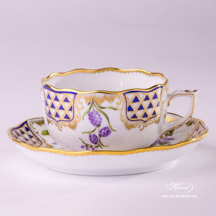Mosaic and Flowers-MTFC Tea Cup and Saucer - 20724-0-00 MTFC - Herend Porcelain