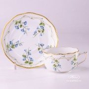 Morning Glory - Nyon 20724-0-00 NY Tea Cup and Saucer - Herend porcelain and fine china