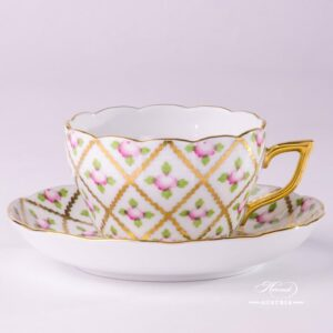 Sevres Roses 20730-0-00 SPROG Tea Cup and Saucer Herend porcelain