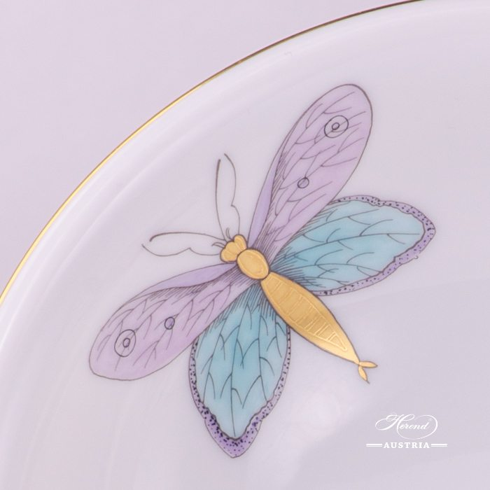 Bowl 2334-0-00 EVICTP2 Royal Garden Turquoise Butterfly pattern. Herend fine china hand painted. Tableware