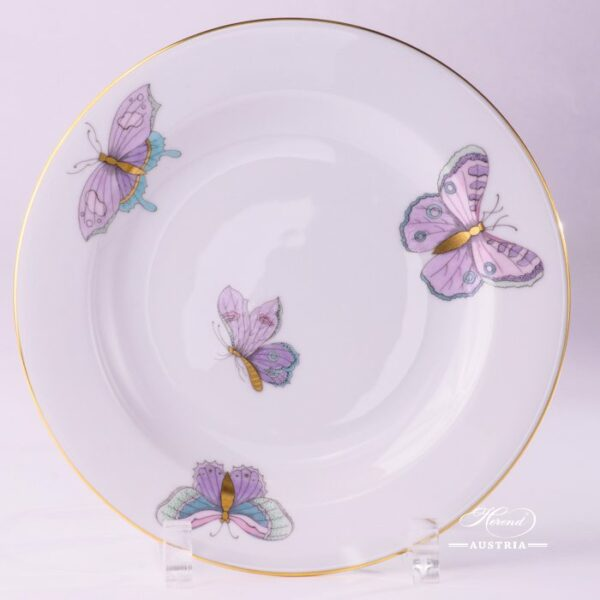 Dessert Plate 2521-0-00 EVICTP2 Royal Garden Turquoise Butterfly pattern. Herend fine china hand painted. Tableware