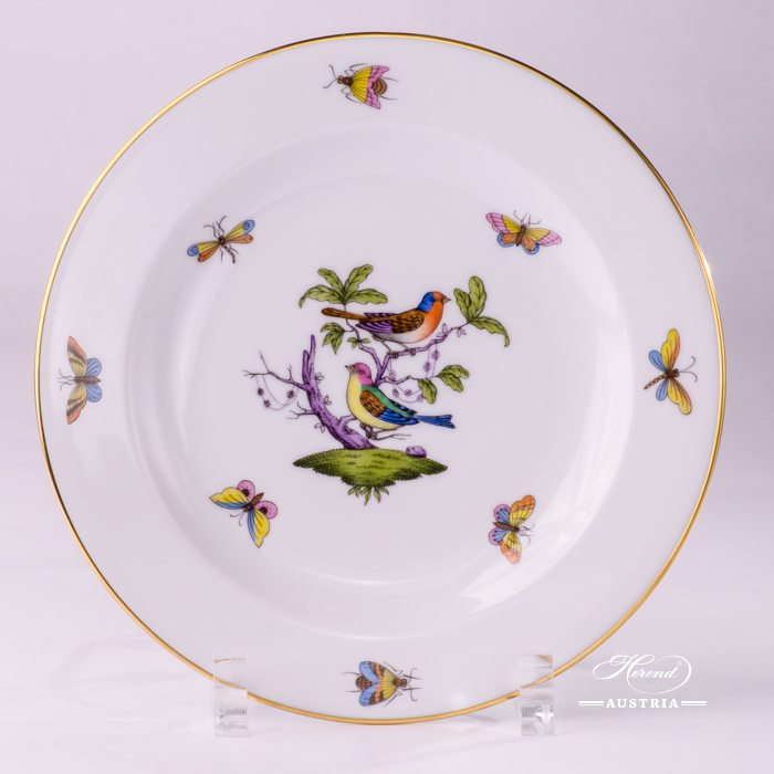 Dessert Plate 2521-0-00 ROM Rothschild Bird Multicolor design. Classic Herend design. Herend fine china. Hand painted tableware
