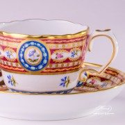 Silk Brocade 3599-0-00 EGAVT Coffee Cup and Saucer Herend porcelain