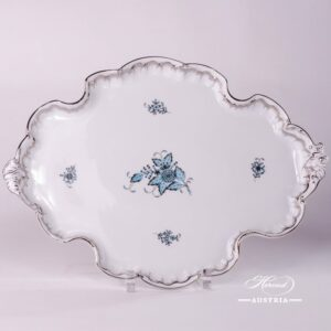 Apponyi Turquoise 402-0-00 ATQ3-PT Tray Rococo Herend porcelain