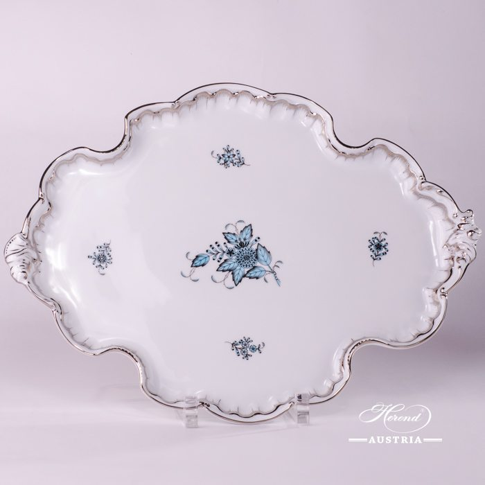 Apponyi Turquoise Tray Rococo - 402-0-00 ATQ3-PT - Herend Porcelain