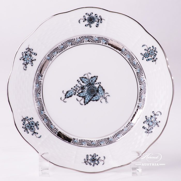 Apponyi Turquoise Dessert Plate - 517-0-00 ATQ3-PT - Herend Porcelain