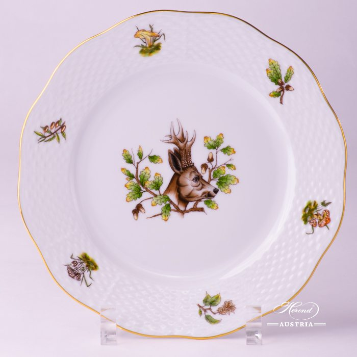 Hunter Trophies Dessert Plate - 517-0-00 CHTM - Herend Porcelain