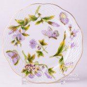 Royal Garden Green 517-0-00 EVICT1 Dessert Plate Herend porcelain
