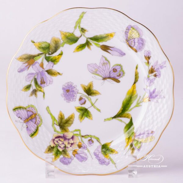 Dessert Plate 517-0-00 EVICT1 Royal Garden Green pattern. Herend fine china hand painted. Tableware
