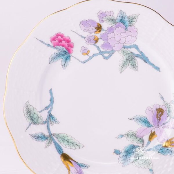 Dessert Plate 517-0-00 EVICTF2 Royal Garden Turquoise Flower pattern. Herend fine china hand painted. Tableware