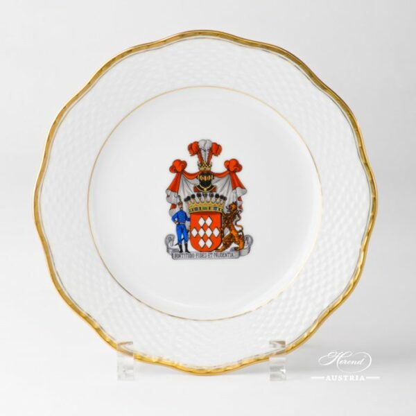 Hadik Decor with Coat of Arms 517-0-00 HD-CIM Dessert Plate Herend porcelain