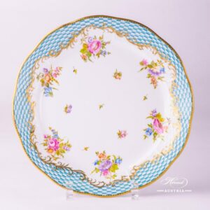 Flowers with Square-Scale 524-0-00 CBTA Dinner Plate Herend porcelain