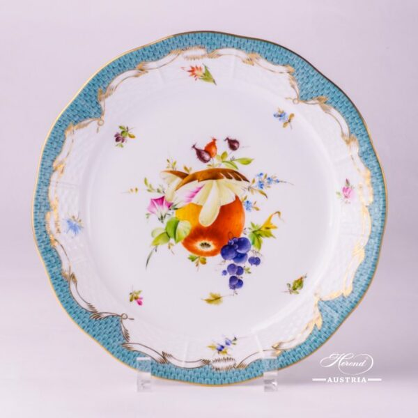 Fruits with Turquoise Fish-Scale 524-0-00 CFR-ET Dinner Plate Herend porcelain