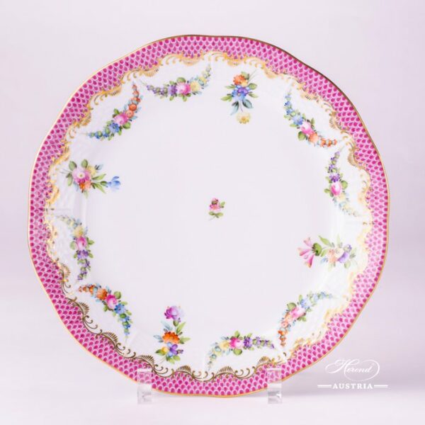 Flower Garland with Pink Fish-Scale 524-0-00 LTBS-EPH Dinner Plate Herend porcelain