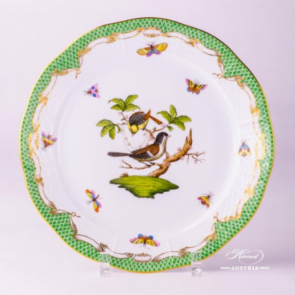 Herend Porcelain - Dinner Plate with Couple of Birds Green Fishnet-RO ETV decor