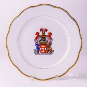 Hadik Decor with Coat of Arms 527-0-00 HD-CIM Serving Plate Herend porcelain