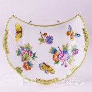 Victoria 530-0-00 VBO Crescent Plate Herend porcelain