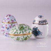 6043-0-00-ATQ3-PT Herend Porcelain eggs