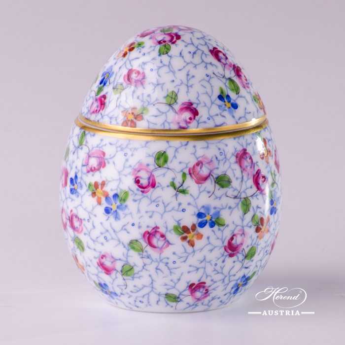 Small Flowers Bonbonniere-Egg Shaped - 6043-0-00 QHF5 - Herend Porcelain