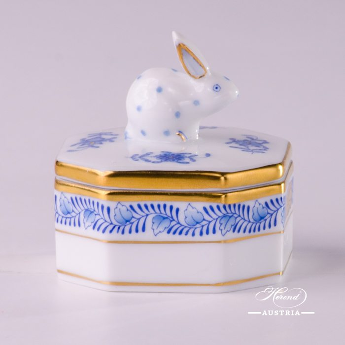 Apponyi-Blue Fancy Box - 6105-0-25 AB - Herend Porcelain