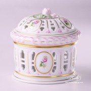 Herend Porcelain Biscuit Box, Bonbonniere 6206-0-09 C-VRH-OR motif