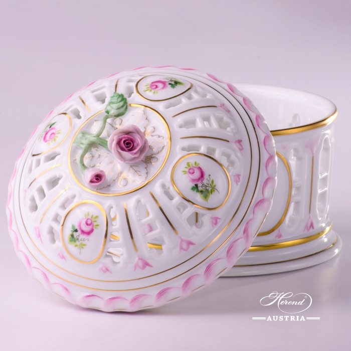 Vienna Rose Candy Box - 6206-0-09 C-VRH-OR - Herend Porcelain