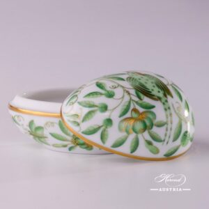 6554-0-00 ZOVA egg Herend Porcelain - Golden Green
