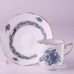 Apponyi Turquoise 709-0-00 ATQ3-PT Coffee Cup and Saucer Herend porcelain