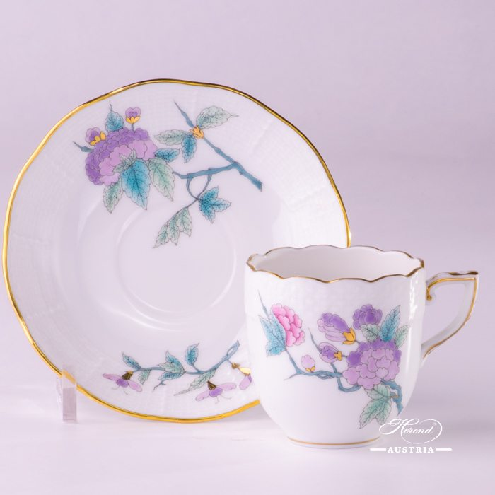 Royal Garden Coffee Cup and Saucer - 709-0-00 EVICTF2 - Herend Porcelain
