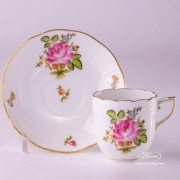 Small Bunch of Roses 709-0-00 PBR1 Coffee Cup and Saucer Herend porcelain