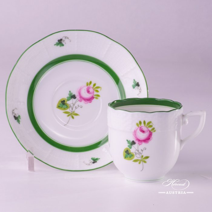 Vienna Rose-VRH Coffee Cup and Saucer - 709-0-00 VRH - Herend Porcelain