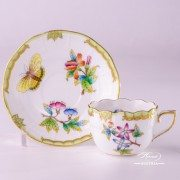 Victoria 711-0-00 VBO Coffee Cup and Saucer Herend porcelain