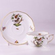 Couple of Birds Rothschild 724-0-00 RO Tea Cup and Saucer Herend porcelain
