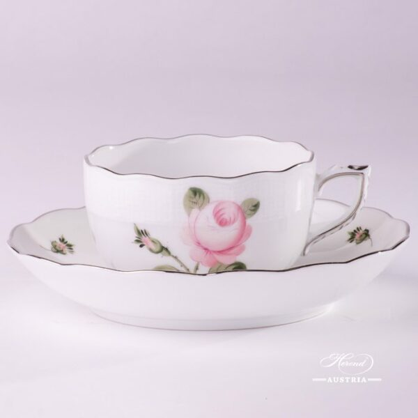 Vienna Rose Grand 724-0-00 VGR-PT Tea Cup and Saucer Herend porcelain