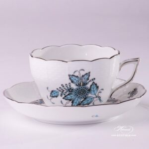 Apponyi 730-0-00 ATQ3-PT Tea Cup and Saucer Herend porcelain