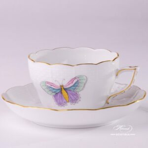 Royal Garden 730-0-00 EVICTP2 Tea Cup and Saucer Herend porcelain