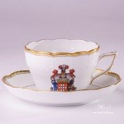 Hadik-Coat of Arms 730-0-00 HD-CIM Tea Cup and Saucer Herend porcelain