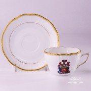 Hadik-Coat of Arms 730-0-00 HD-CIM Tea Cup and Saucer Herend porcelain