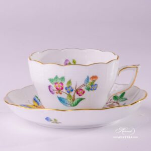 Victoria-A 730-0-00 VA Tea Cup and Saucer Herend porcelain