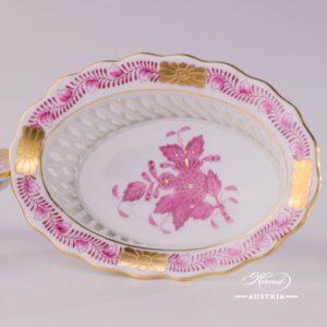 Apponyi-Pink Basket 7380-0-00 AP - Herend Porcelain