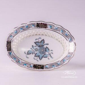 Apponyi-Turquoise Basket 7380-0-00 ATQ3-PT - Herend Porcelain