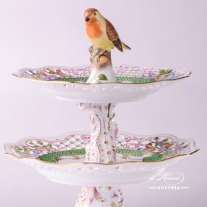 7442-0-00 RO-ETV fruit stand Herend Porcelain with Vogel - Bird