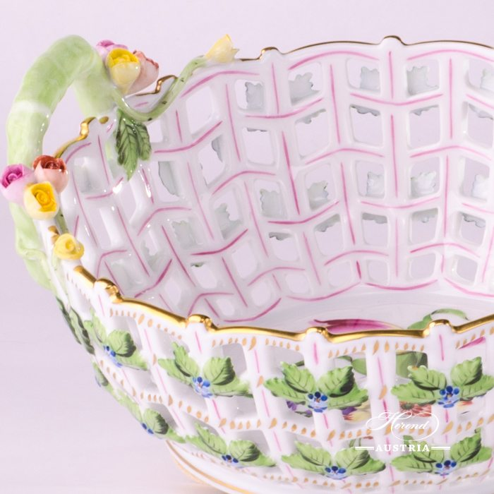Bunch of Tulip Basket with Handle - 7470-0-00 BT - Herend Porcelain